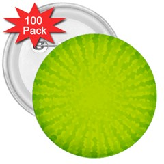 Radial Green Crystals Crystallize 3  Buttons (100 Pack)