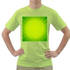 Radial Green Crystals Crystallize Green T-Shirt