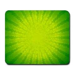 Radial Green Crystals Crystallize Large Mousepads