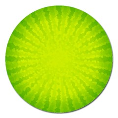 Radial Green Crystals Crystallize Magnet 5  (Round)