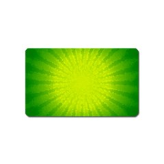 Radial Green Crystals Crystallize Magnet (Name Card)