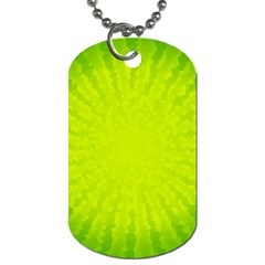 Radial Green Crystals Crystallize Dog Tag (One Side)