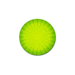 Radial Green Crystals Crystallize Golf Ball Marker
