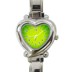Radial Green Crystals Crystallize Heart Italian Charm Watch