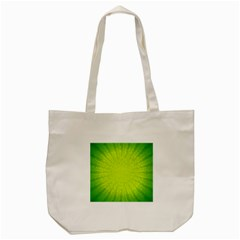 Radial Green Crystals Crystallize Tote Bag (Cream)