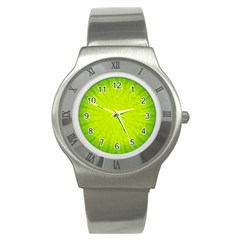 Radial Green Crystals Crystallize Stainless Steel Watch