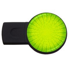 Radial Green Crystals Crystallize USB Flash Drive Round (4 GB)