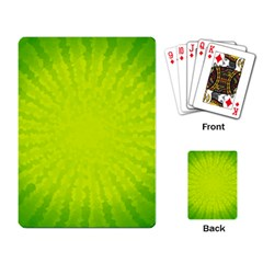 Radial Green Crystals Crystallize Playing Card