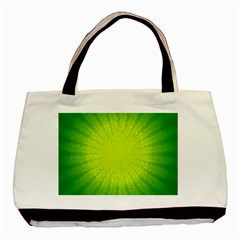 Radial Green Crystals Crystallize Basic Tote Bag