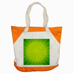 Radial Green Crystals Crystallize Accent Tote Bag