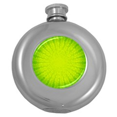 Radial Green Crystals Crystallize Round Hip Flask (5 oz)