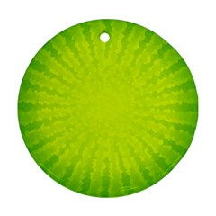 Radial Green Crystals Crystallize Round Ornament (two Sides)