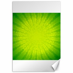 Radial Green Crystals Crystallize Canvas 12  x 18