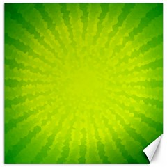Radial Green Crystals Crystallize Canvas 20  x 20
