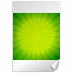Radial Green Crystals Crystallize Canvas 24  x 36