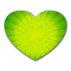 Radial Green Crystals Crystallize Heart Mousepads