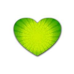 Radial Green Crystals Crystallize Heart Coaster (4 Pack)