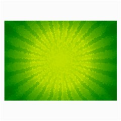 Radial Green Crystals Crystallize Large Glasses Cloth