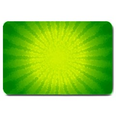 Radial Green Crystals Crystallize Large Doormat
