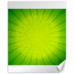 Radial Green Crystals Crystallize Canvas 11  x 14