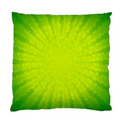 Radial Green Crystals Crystallize Standard Cushion Case (one Side)