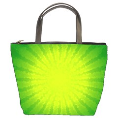 Radial Green Crystals Crystallize Bucket Bags