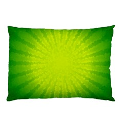 Radial Green Crystals Crystallize Pillow Case