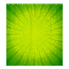 Radial Green Crystals Crystallize Shower Curtain 66  x 72  (Large)