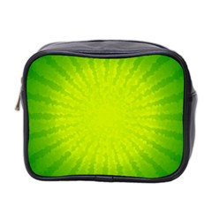 Radial Green Crystals Crystallize Mini Toiletries Bag 2 Side