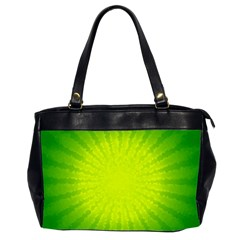 Radial Green Crystals Crystallize Office Handbags (2 Sides)