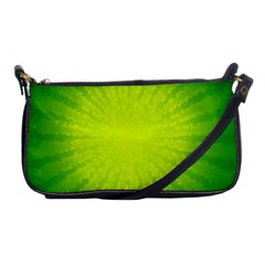 Radial Green Crystals Crystallize Shoulder Clutch Bags