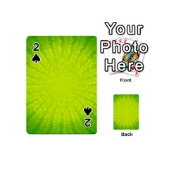 Radial Green Crystals Crystallize Playing Cards 54 (Mini)