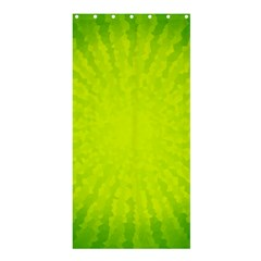 Radial Green Crystals Crystallize Shower Curtain 36  X 72  (stall)