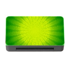 Radial Green Crystals Crystallize Memory Card Reader With Cf
