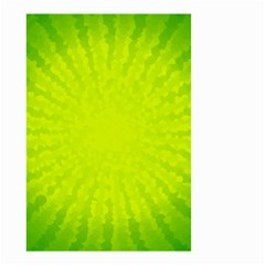 Radial Green Crystals Crystallize Small Garden Flag (Two Sides)