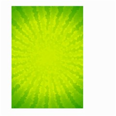 Radial Green Crystals Crystallize Large Garden Flag (Two Sides)