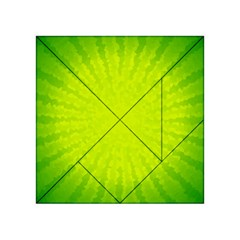 Radial Green Crystals Crystallize Acrylic Tangram Puzzle (4  X 4 )