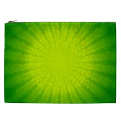 Radial Green Crystals Crystallize Cosmetic Bag (XXL)