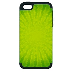 Radial Green Crystals Crystallize Apple Iphone 5 Hardshell Case (pc+silicone)