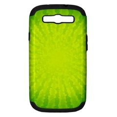 Radial Green Crystals Crystallize Samsung Galaxy S III Hardshell Case (PC+Silicone)