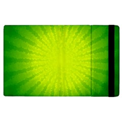 Radial Green Crystals Crystallize Apple iPad 3/4 Flip Case