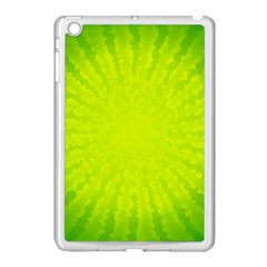 Radial Green Crystals Crystallize Apple Ipad Mini Case (white)