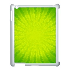 Radial Green Crystals Crystallize Apple Ipad 3/4 Case (white)