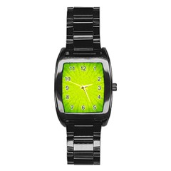 Radial Green Crystals Crystallize Stainless Steel Barrel Watch