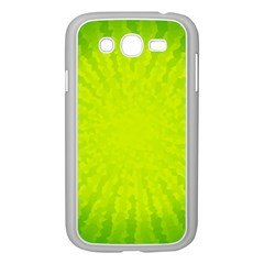Radial Green Crystals Crystallize Samsung Galaxy Grand DUOS I9082 Case (White)