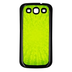 Radial Green Crystals Crystallize Samsung Galaxy S3 Back Case (black)