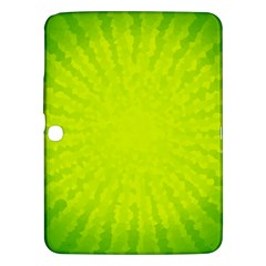 Radial Green Crystals Crystallize Samsung Galaxy Tab 3 (10 1 ) P5200 Hardshell Case