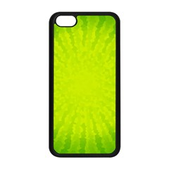 Radial Green Crystals Crystallize Apple iPhone 5C Seamless Case (Black)