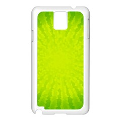 Radial Green Crystals Crystallize Samsung Galaxy Note 3 N9005 Case (White)