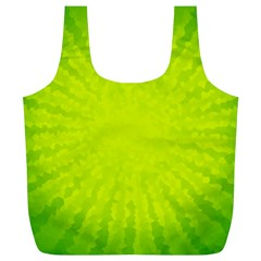 Radial Green Crystals Crystallize Full Print Recycle Bags (L)